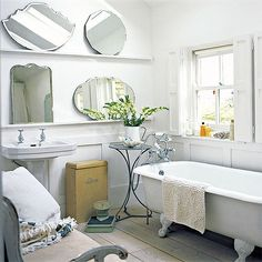 Tips on How to Decorate a Small Bathroom from Kathy Woodard of Decorating Your Small Space.