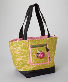 Take a look at this Green & Orange Lipstick Tote Bag by Goody Goody on #zulily today!