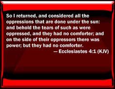 Ecclesiastes 4:1