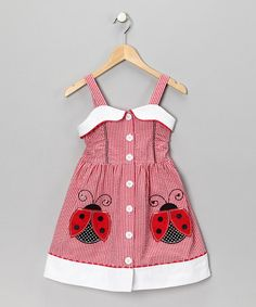 Take a look at this Samara Red & White Ladybug Dress - Toddler by Dress Du Jour Collection on today! Little Girl Outfits, Cute Outfits For Kids, Little Girl Dresses, Toddler Girl Dresses, Toddler Outfits, Toddler Fashion, Kids Fashion, Lady Bug, Kid Styles
