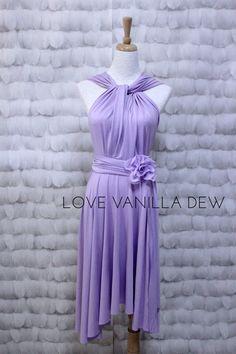 Bridesmaid Dress Infinity Dress Lilac Knee by LoveVanillaDew, $33.00