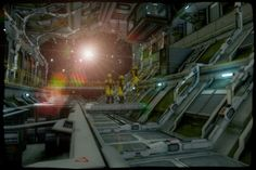 Sci-Fi Hangar Scene by lucia45 on deviantART