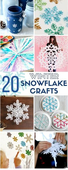 Winter Snowflake Crafts | Handmade | Home Decor | Christmas | Snow | Holidays | Easy DIY Craft Tutorial Ideas