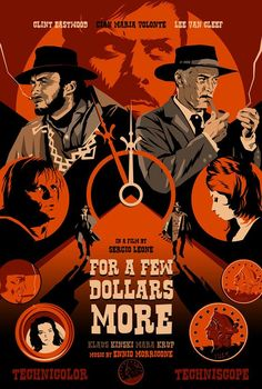 Tagged with art, awesome, poster, classic, moviesandtv; The Dollars Trilogy Best Movie Posters, Cinema Posters, Movie Poster Art, Retro Posters, Clint Eastwood, Westerns, Pop Art, Gravure Illustration, Lee Van Cleef