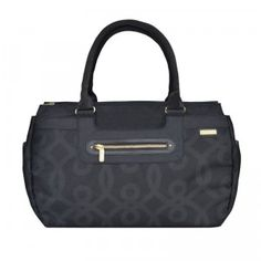The JJ Cole Parker Weekender Bag is a large zip-top diaper bag that organizes all your baby essentials.