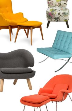 Comfortable and Color Lounge Chairs