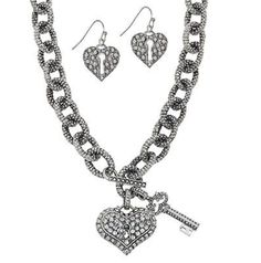 Love Big Necklace Set Traci Lynn Fashion Jewelry www.tracilynnjewelry.net/14173