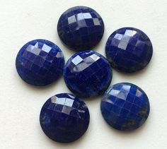 1 Pc Huge Lapis Lazuli Checker Cut Cabochons by gemsforjewels