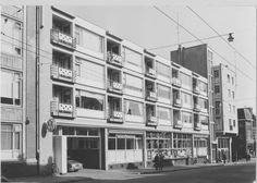 Oosterstraat tussen Kleine Peperstraat en Kattendiep Groningen 1958