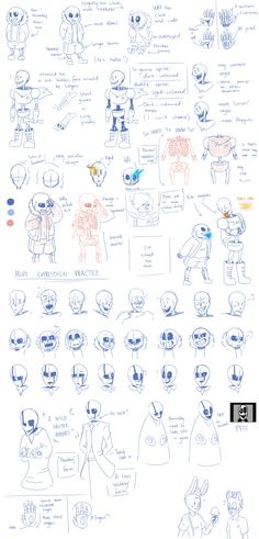 Undertale sketches- developmental work (UPDATED) by Gameaddict1234.deviantart.com on @DeviantArt