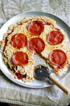 dairy free and gluten free pepperoni pizza