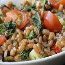 Ensalada de espelta y garbanzos con hierbas frescas | #Receta de cocina | #Vegana - Vegetariana ecoagricultor.com