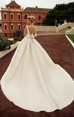 onlybridals 2020 New Elegant Satin Beach Wedding Dresses With Pockets Backless Bow Boho Beach A Line Backless Wedding Dress Bridal Gowns Western Wedding Dresses, Princess Wedding Dresses, Bridal Wedding Dresses, Dresses Elegant, Wedding Dress With Pockets, Backless Wedding, Outfit, Bateau Neckline, Bridal Collection