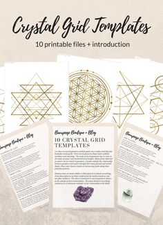 Beautiful crystal grid templates you can print at home!