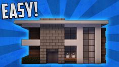 modern minecraft build houses easy tutorial blueprints building designs tags cities