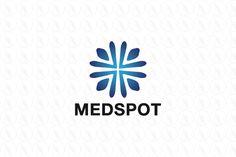 Med Spot - $240 (negotiable) http://www.stronglogos.com/product/med-spot #logo #design #sale #medical #clinic #urgent #care #family #doctor #holistic #medicine