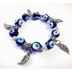 PULSEIRA OLHO TURCO Pandora Charms, Beaded Bracelets, Charmed, Jewelry, Beaded Wrap Bracelets, Eyes, Charms, Jewlery, Bijoux