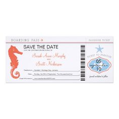 >>>Hello          Save the Date Seahorse & Starfish Boarding Pass Custom Invites           Save the Date Seahorse & Starfish Boarding Pass Custom Invites We provide you all shopping site and all informations in our go to store link. You will see low prices onHow to          Save the...Cleck Hot Deals >>> http://www.zazzle.com/save_the_date_seahorse_starfish_boarding_pass_invitation-161454261559248939?rf=238627982471231924&zbar=1&tc=terrest