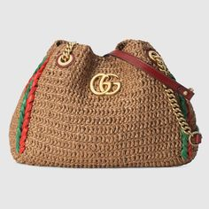 Pre-Owned Gucci Gg Marmont Tote Large Beige/red Gucci Handbags, Luxury Handbags, Gucci Bags, Tassen Design, Gucci Online, Gucci Gifts, Designer Totes, Medium Tote, Large Tote