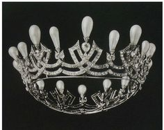 Empress Maria Feodorovna pearl tiara ca. 1880