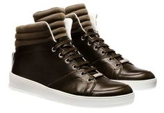 Dior Homme Ribbed Calfskin High-top Sneakers