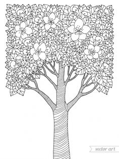 welcome to dover publications ... free coloring book page ... - Cherry Blossom Tree Coloring Pages