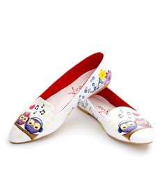 Another great find on #zulily! White Owls Printed Loafer #zulilyfinds