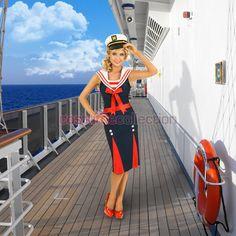 Seven Seas 50s Sailor Girl Dress