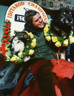 Susan Butcher (1954 - 2006) The first person to win four out of five sequential Iditarod sled dog races, Susan Butcher and her dogs dominated the sport in the late 1980s. She brought national media attention to the grueling race, which covers more than 1,000 miles of Alaskan wilderness and can take 15 days or more to complete. (AP Photo / Rob Stapleton)