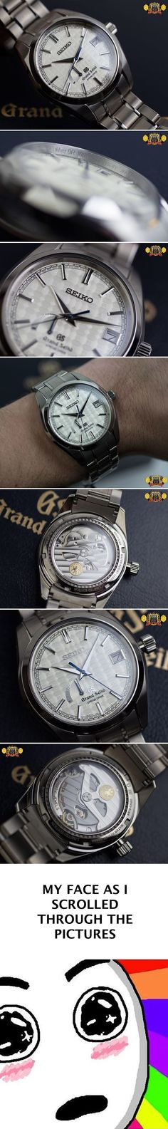 Grand Seiko Spring Drive 9R 10th Anniversary SBGA109, a limited edition model made to honor the 10 year 9R/Spring Drive anniversary. $7,000 [Really beautiful Seiko! Now get that shit on MY WRIST!!!]