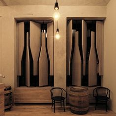 33 Examples Of Wine Storage Done Right Awesome window coverings. How unique. they pivot to open and close POW!!!