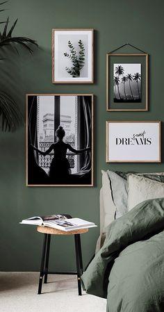 Green in the bedroom is the trend of On the wall or .- Grün im Schlafzimmer ist der Trend von An der Wand oder auf Ihrem Bett ist … – Wohnaccessoires Green in the bedroom is the trend of On the wall or on your bed is … -