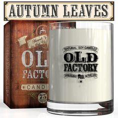 Scented Candles - Autumn Leaves - Decorative Aromatherapy - 11-Ounce Soy Candle ** See this great product.