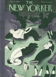 Victor Bobritsky : Cover art for The New Yorker 76 - 31 July 1926