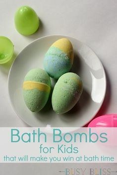 Bath Bombs for Kids That Will Make You Win at Bath Time These bath bombs for kids are an easy weekend project. Your kids will have fun helping make them and will love watching them fizz around the bath tub.