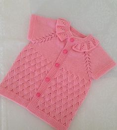 Baby Knitting Patterns, Knitting Stitches, Crochet Patterns, Crochet For Kids, Crochet Baby, Crochet Top, Baby Pullover, Baby Cardigan, Knit Vest