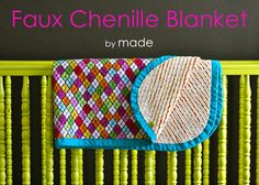 TUTORIAL: Faux Chenille Blanket--I made a blanket like this for Z, and we love it. It's the perfect little crib blanket. Quilting Tutorials, Sewing Tutorials, Sewing Projects, Sewing Patterns, Sewing Ideas, Sewing Crafts, Quilting Tips, Sewing Tips, Craft Projects