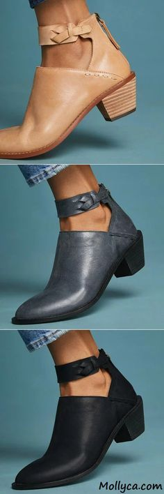 $41.29 USD Sale! SHOP NOW! Free Shipping Women Plus Size Chunky Heel Booties Daily Zipper Boots