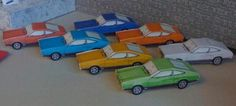 1974`s Mustang II Hatchback Paper Model - by Mustang Attitude  ==          Eight colors for choose of this easy-to-build 1974`s Mustang II Hatchback, by Mustang Attitude website.