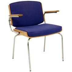 Oak Steel Armchair by DUBA #cobalt (via @1stdibs)