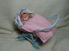 Urmel´s Miniatur Baby  SCHLAFMÜTZCHEN  12 cm handmodelliert OOAK