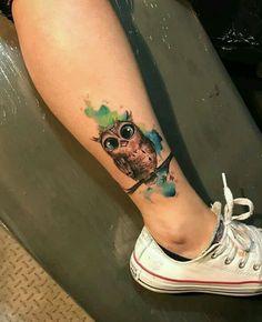 19 Ideas For Tattoo Mujer Buho Trendy Tattoos, Sexy Tattoos, Body Art Tattoos, Small Tattoos, Tattos, Baby Owl Tattoos, Cute Owl Tattoo, Owl Tattoo Design, Tattoo Designs
