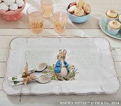 Peter Rabbit Platter at Pottery Barn kids. So beautiful and sweet.