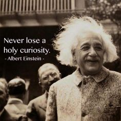 "Daily Quotes – Alber Einstein: ""Never lose a holy…"