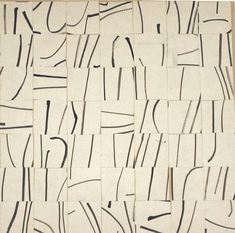 Ellsworth Kelly, Brushstrokes Cut into Forty-Nine Squares and Arranged by Chance, 1951