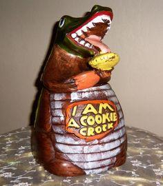Vintage 'I Am A Cookie Crock' California Originals Company Cookie Jar