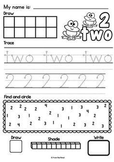 math worksheet : 1000 images about number 2 worksheets on pinterest  number  : Number 2 Worksheets For Kindergarten