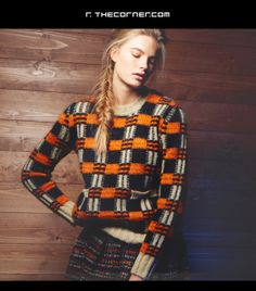 A/W Distilled: women's knitwear Marni Uni Fashion, Next Fashion, Fashion Prints, Winter Fashion, Knitting Stiches, Knitting Ideas, Knitting Projects, Future Trends, 2015 Trends
