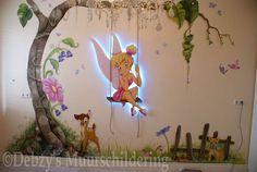 Kids Wall Decor, Childrens Room Decor, Baby Room Decor, Metal Clock, Metal Wall Art, Roman Clock, Tinkerbell Disney, Cute Animal Illustration, Disney Rooms