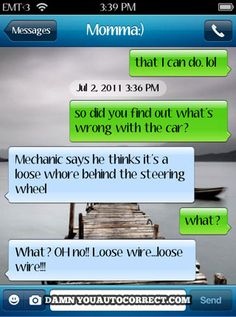 funny auto-correct texts - Best of DYAC: Car Trouble
